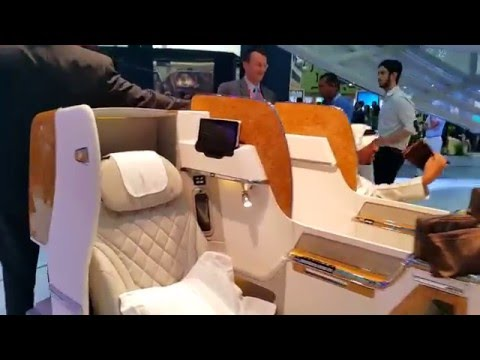 Emirates Airlines B777 Business class at Arabia Travel Market in Dubai 27.04.2016