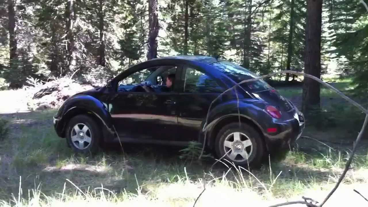 Lifted Vw New Beetle Tdi Towing A Tree Youtube