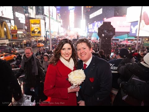 LOVE in Times Square Valentine's Day 2015