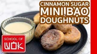 Moreish Cinnamon Sugar Mini Bao Doughnuts Recipe!