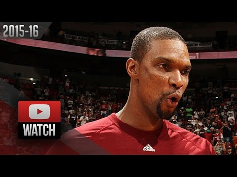 Chris Bosh Full Highlights vs Pelicans (2015.12.25) - 30 Pts, 10 Reb, CLUTCH!
