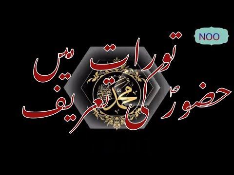 hayat us sahaba tawrat main huzoor PBH ki tareef bayan urdu