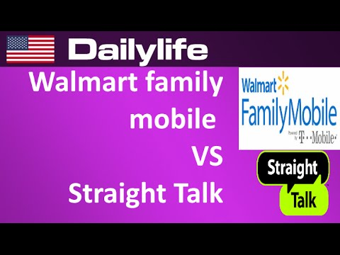Walmart Family Mobile vs straight talk