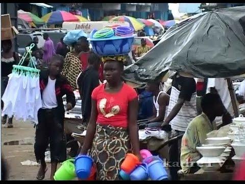 Monrovia market in Liberia
