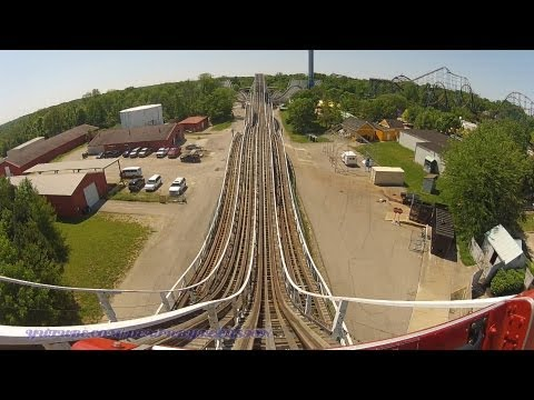 The Racer - Red On-ride Front Seat (HD POV) Kings Island