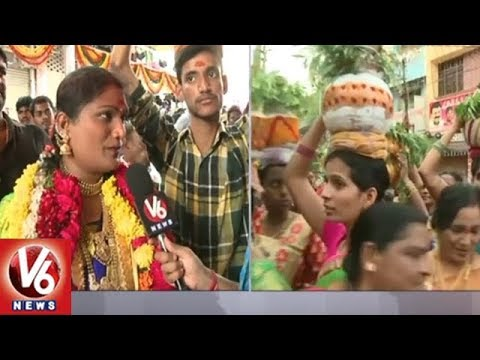 Jogini Vaishnavi Participate In Secunderabad Mahankali Bonalu Festival Celebrations | V6 News
