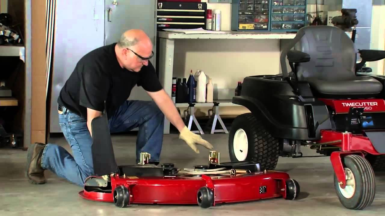 How To Remove A Zero Turn Mower Deck Toro Timecutter