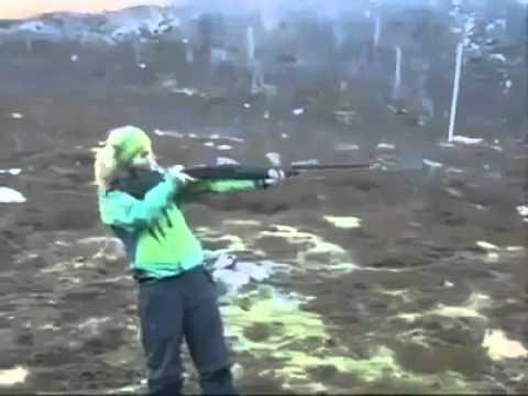 Girls in Arm shoting !