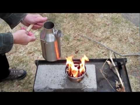 Survival kit: The Kelly Kettle Trekker biomass backpacking stove/kettle