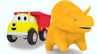 BEST OF Learn Colors for Toddlers with Dino the Dinosaur, Trains and Ethan the Dump Truck Cartoons