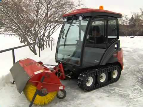 Dave LaLena shows off coolest snow plow mower ever made!