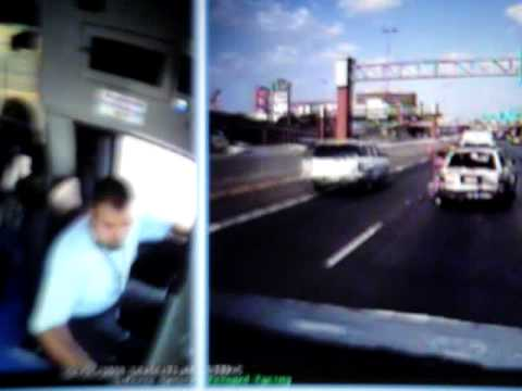 Bus Driver Texting Crash. (UNEDITED & UNCENSORED VIDEO)