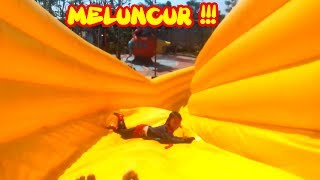 Lucu Bermain di Istana Balon Air, Prosotan WaterSlide WaterPark  Fun Play Inflatable Water Slide