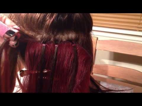 Micro Ring Weave Demonstrated by Jem Hair Extensions Scotland