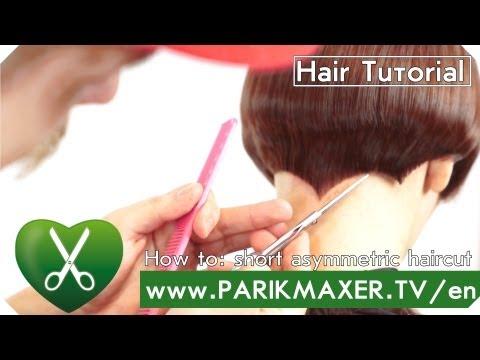 Short asymmetrical haircut. Serj Shapochka. parikmaxer tv english version