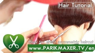 Short asymmetrical haircut parikmaxer tv english version