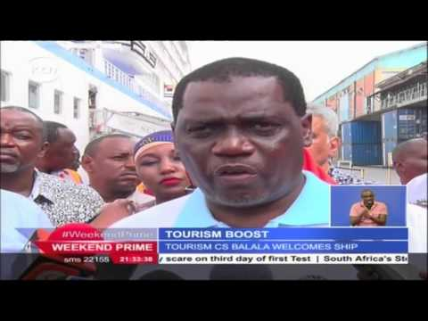 Boost for tourism as cruise ship docks at the port of Mombasa carrying over 1000 tourists