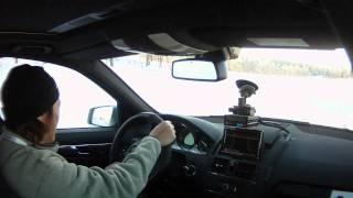 AMG瑞典試駕車內畫面