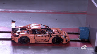 LEGO-Porsche Crash-Test in Slow-Motion