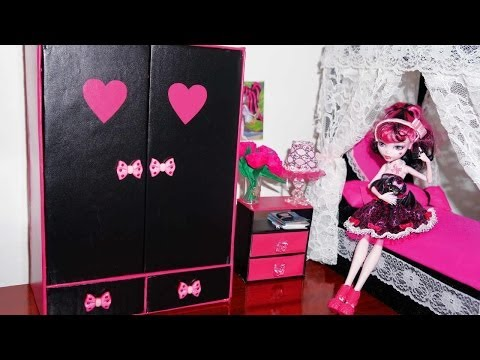 How to make a wardrobe for dolls Monster High. Barbie. etc