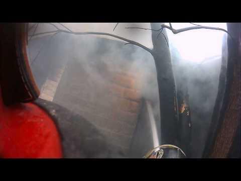 Helmet cam: House fire in Ohio