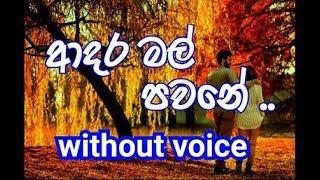 Adara Mal Pawane Karaoke (without voice) ආදර මල් පවනේ
