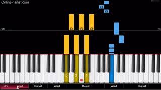 Download Lagu Luis Fonsi & Demi Lovato - Échame La Culpa - EASY Piano Tutorial Gratis STAFABAND