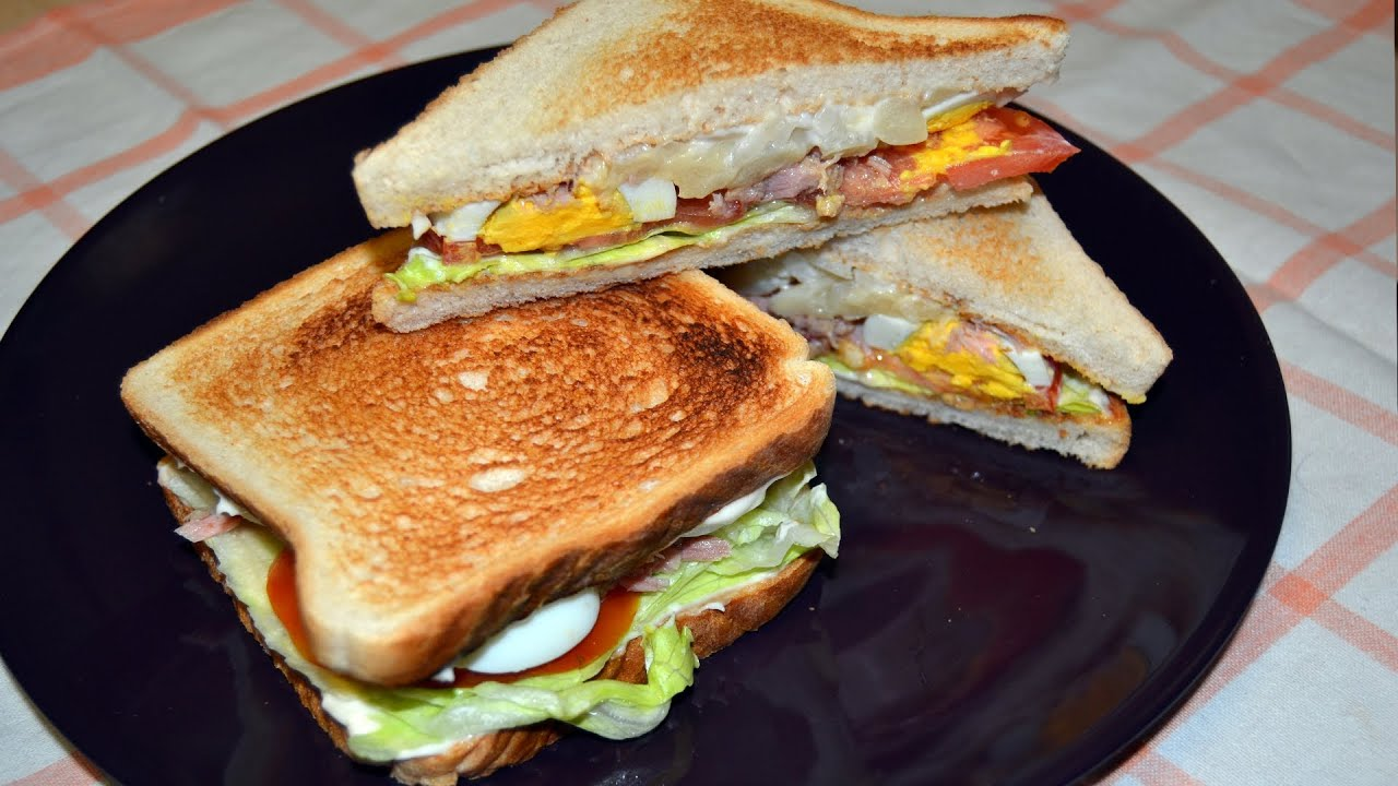 Tuna egg salad toasted sandwich quick easy sandwich for Tuna and egg sandwich