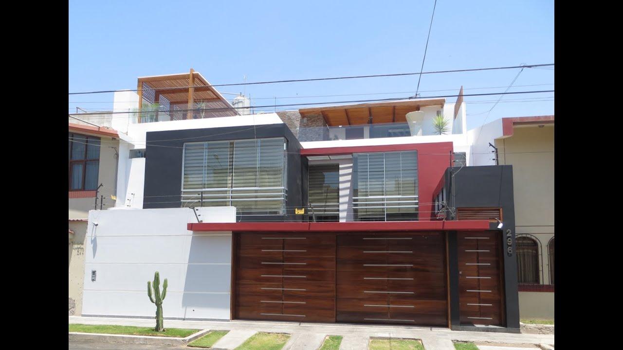Modelos de fachadas de casas youtube for Modelo de casa de 4x6