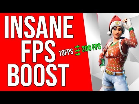 RUN FORTNITE ON LOW END PC FIX LAG AND STUTTER NEW FPS BOOST GUIDE 2018 !