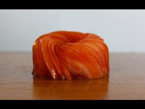 Tomato Garnish - Food Decoration - Japanese Sushi Chef Decoration