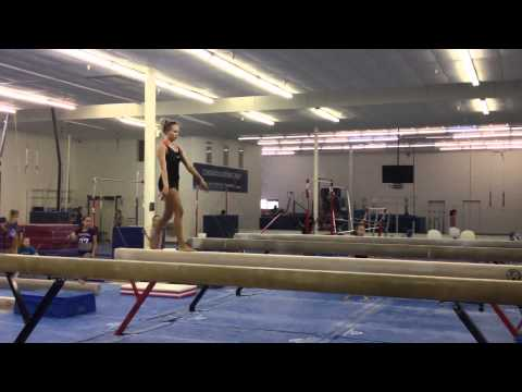 Nastia Liukin - Beam Training for the 2012 Olympic Games in London