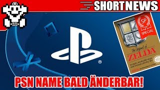 PSN Name bald änderbar! / Zelda 1 Special Edition erschienen! / PS5 mit Tablet? Short #NerdNews 334