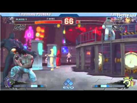 EVO 2011 SSFIV-AE Top 8 Poongko (Seth) vs Fuudo (Fei-Long).wmv