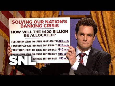 Geithner Cold Open: Treasury Secretary - Saturday Night Live