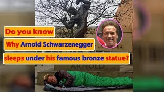 Arnold Schwarzenegger posted a picture of him sleeping under his famous bronze statue|Enlightening
