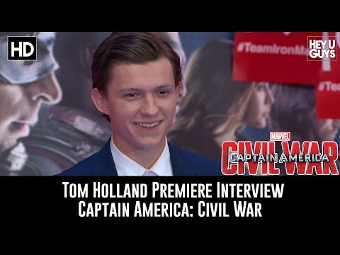 Tom Holland (Spider-Man) Exclusive Interview - Captain America: Civil War Premiere