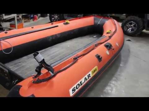 лодки солар видео тесты
