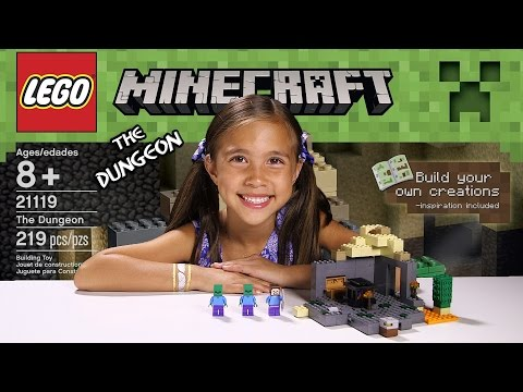 THE DUNGEON - LEGO MINECRAFT Set 21119 - Unboxing. Review. Time-Lapse Build