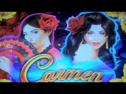 Carmen NEW SLOT MACHINE with interesting Bonus Round Feature