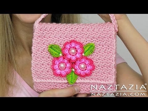 Diy Learn How To Crochet Flower Purse Bag Clutch Handbag Wallet  And Line A Purse