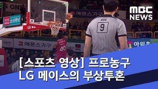 [스포츠 영상] 프로농구 LG 메이스의 부상투혼 (2019.02.16/뉴스데스크/MBC)