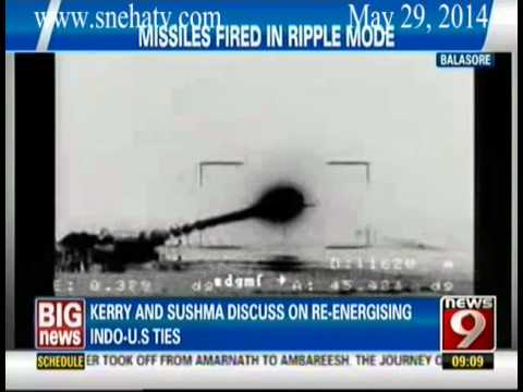 News9 - IAF test fires three Akash Missiles