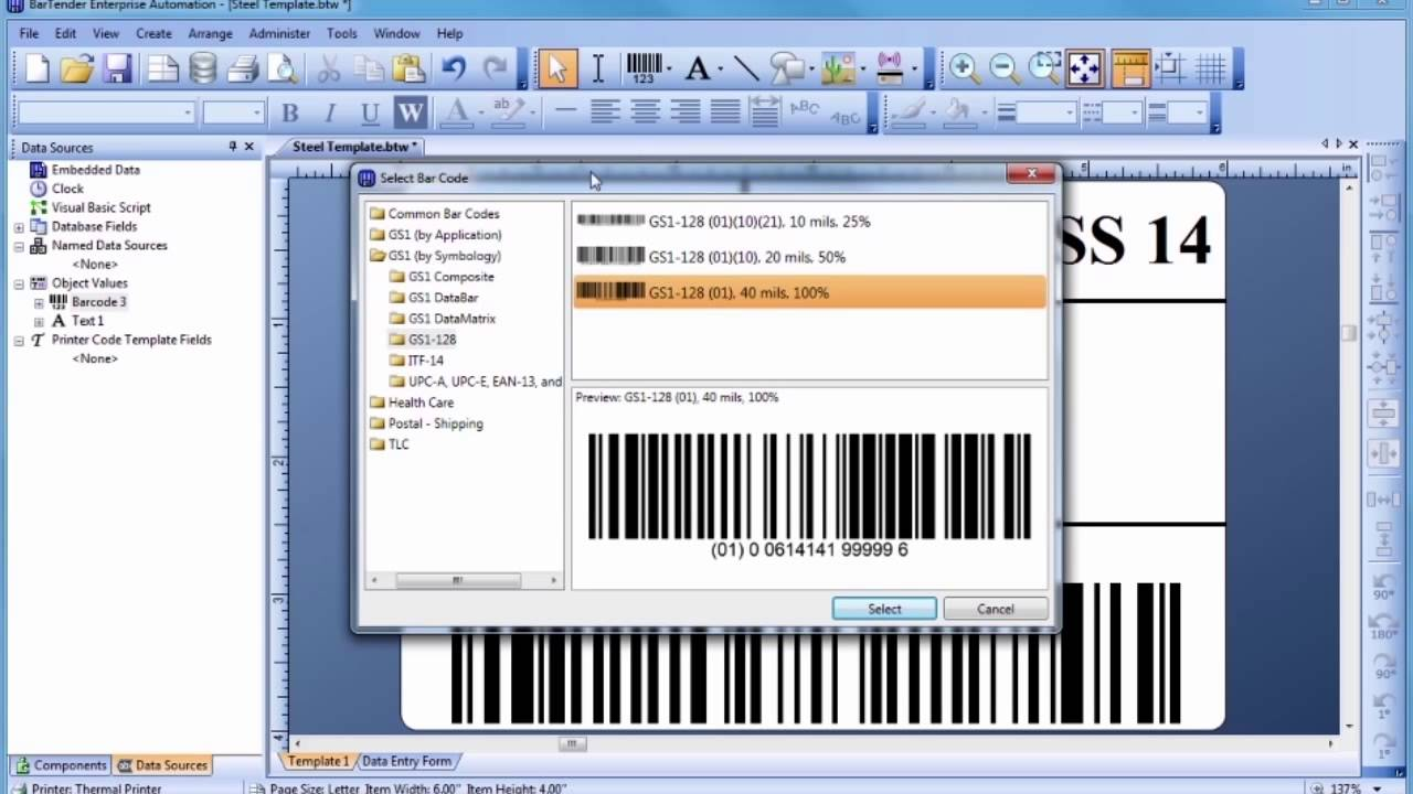 Zebra Label Design Software