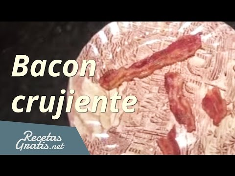 Hacer bacon crujiente al microondas - Make crispy bacon in the microwave