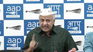 "AAP Leader Manish Sisodia say "" Congress Should Decide are they Against Modi & Amit Shah or not"""