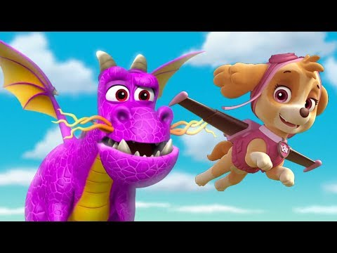 paw patrol s3e9  pups save a dragon / best scenes cartoon for kids