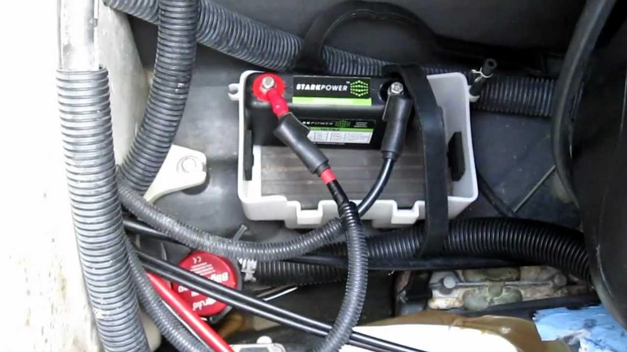 starkpower 12v ultra lithium starter battery demo on