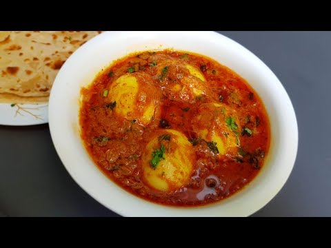 Egg curry : a perfect side dish for chapathi, Roti & Pulka; also goes excellent with Rice as well