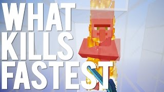 What's The Fastest Way to Kill in Minecraft 1.9?